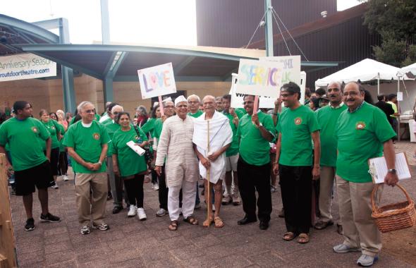 Walk for peace                                             Photos: Navin Mediwala