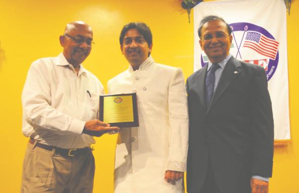 Recognition of President, Vishal Merchant for Excellent Service.