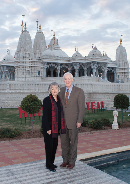 Senator Cornyn and wife Sandy Cornyn at BAPS.