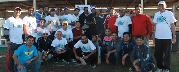 Winners, runners up and the Sewa organization team all together.