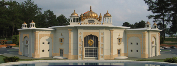 Model of the proposed SNC Gurdwara in Houston.