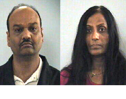 Subway franchise operators Amrutlal Patel (left) and Dakshaben Patel have been charged with housing, transporting and employing illegal immigrants.