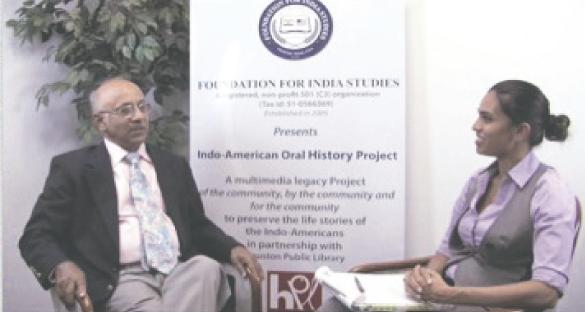 Dr. Randhir P. Sinha, a neurosurgeon of Clear Lake was interviewed by Anjaly Thakkar, a Berkeley educated teacher at the Kinkaid School.