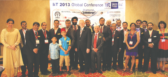Organizers and volunteers at IIT Houston Convention.