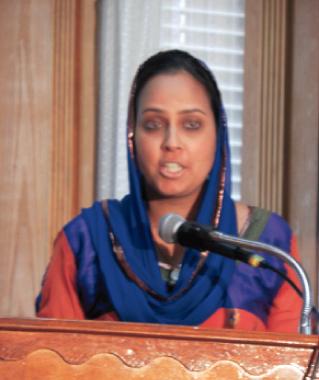 Manpreet Kaur was the emcee for the program.