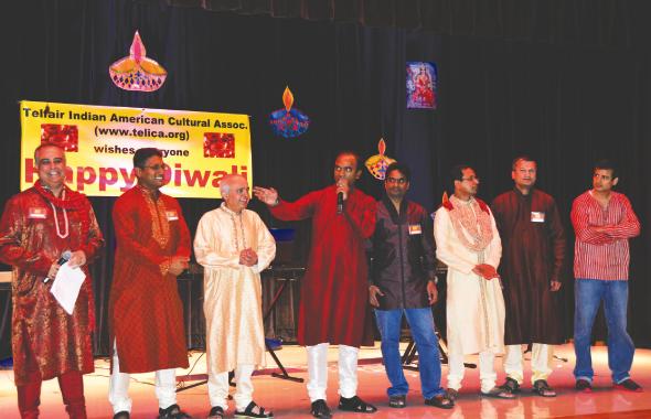 TELICA board members from left:  Deepak Kanwar (lead coordinator 2013 Diwali); Raju Muppala, Prakash Shah (Treasurar), Ravi Ranjan (President), Satya Narendrula (Secretary), Sundar Moorthy, Praveen Bhavani and Siva Juturi. Not seen Ambuj Bajpai, Amit Mittal and Shankar Vaidyanathan.