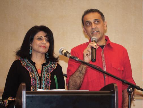 Sangeeta Pasrija with Swapan Dhairyawan.