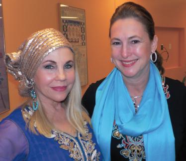 Houston philanthropist Carolyn Farb (left) with Harris County District Attorney candidate Kim Ogg, Photo: Jawahar Malhotra