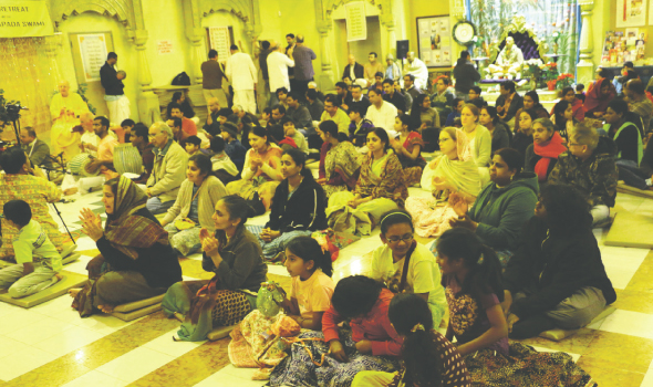 Devotees during the Japa retreat 2013.   Photos: Nawal Sharma