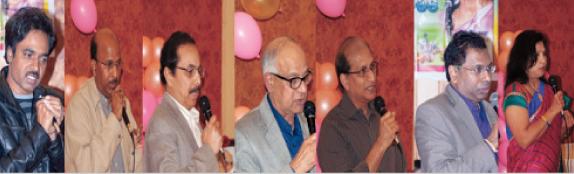From left:  Maruthi reddy, Krishna Keerti, Siva Bodagala, Mahendra Korivi, Ravi Tamirisa, Bangar Reddy, and Uma Medi.