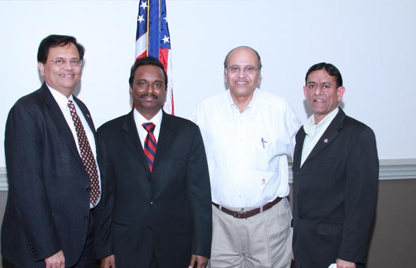 From left: Gitesh Desai, Dr. Ramesh Cherivirala, Jagat Kamdar and Hasu Patel.