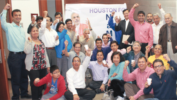 Volunteers after the event on March 20m Chai per charcha at India House Houston.