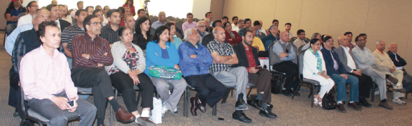 Audience at 7:00 am at India House Houston.