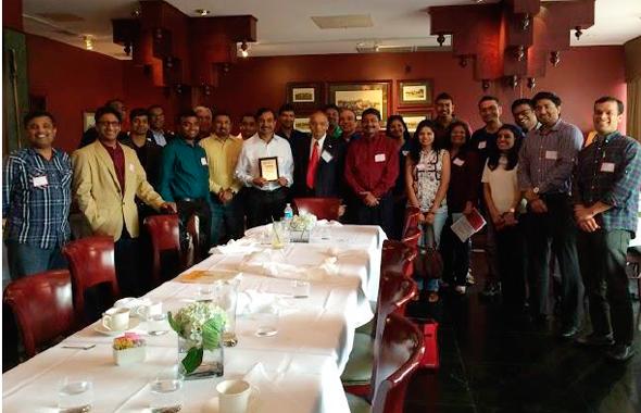 Reception to Jayan RamanKutty at Kiran's Restaurant