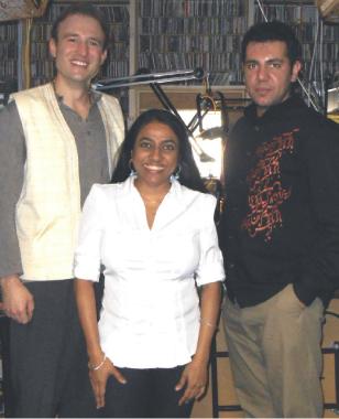 From left: Justin Lasiewicz, Ktru's Varsha Vakil and Ali Tarkesh.