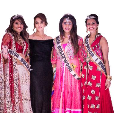 Miss Bollywood Pageant winners with Preity Zinta.