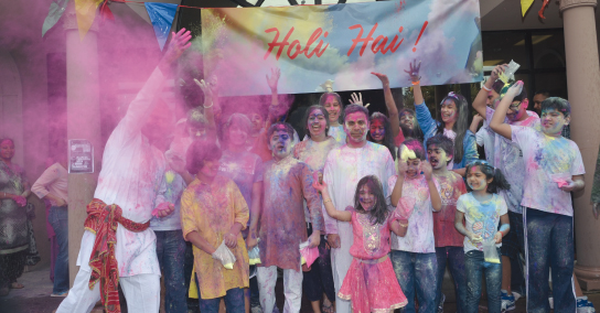 Friends and family had a blast throwing dry gulal of every shade of the rainbow, at the Arya Samaj Greater Houston, gathered to celebrate Holi on Sunday, March 16.