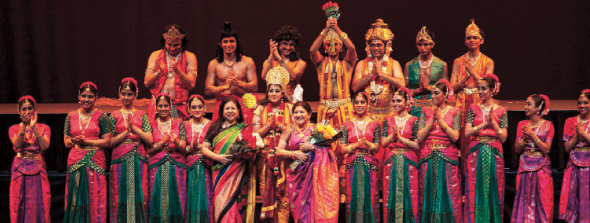 Concept and Choreography: Rathna Kumar, Artistic Consultant: Seetha Ratnakar, Music Composition: Rajkumar Bharathi.                  Photo: Navin Mediwala