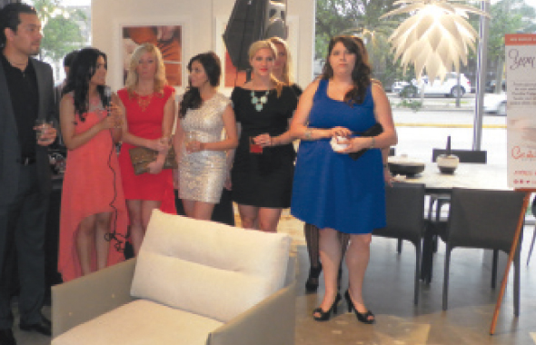Nina Magon with the staff of her company Contour Interior Design. Her husband Karun is on the extreme left.