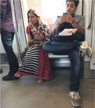 A college student and a newlywed in the Metro