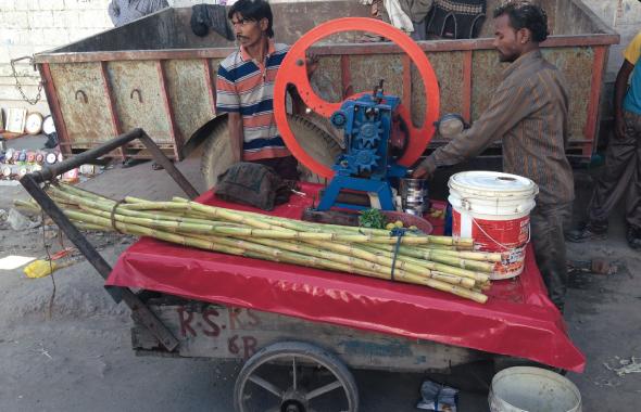 A sugracane juice wallah