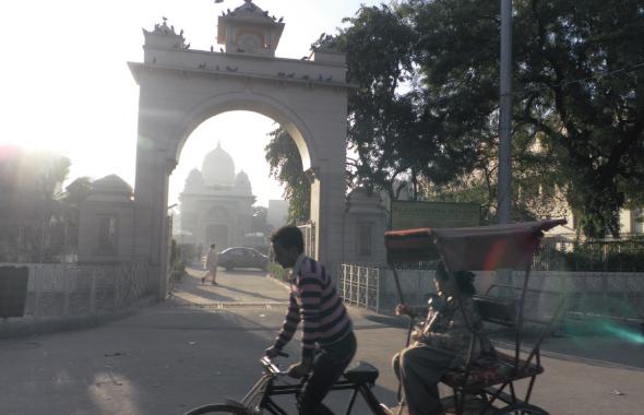 A cycle rickshaw wallah