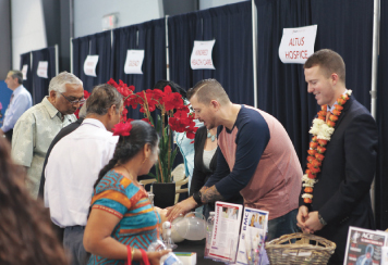 Many informative booths were on hand at the BAPS health fair.