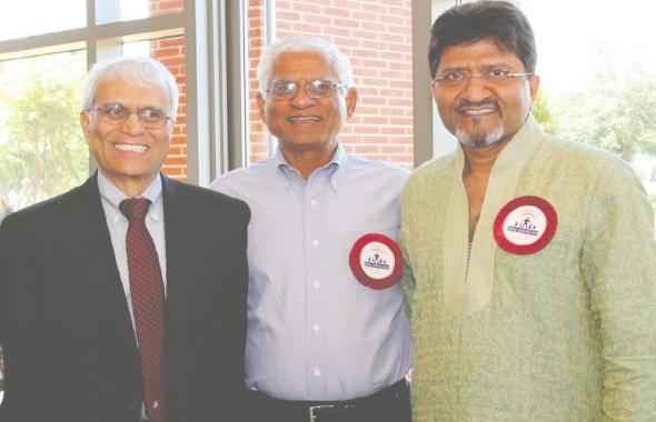 From left: Yogi Patel, Keynote Speaker, Ashok Danda, Past President Ekal USA and, Naren Chavda, President Ekal Houston Chapter.