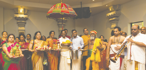 Traditional Seer Varisai procession starts at Ganesha temple with MTS chair Dr. Vaduganathan family leading