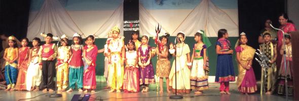 Vedic Heritage School students depicting episodes from Siva Purana