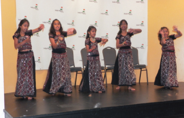 Young girls from the Natraj School of Dance performed before the finals took place