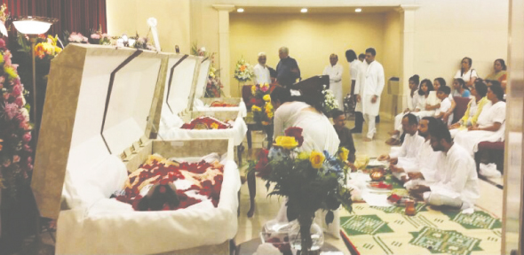 Friends and family pay their last tribute to the departed souls at the Funeral held at Winford Funeral Homes, 8514 Tybor Drive, Houston, Tx 77074 on Thursday June 26, at 9.00 AM.