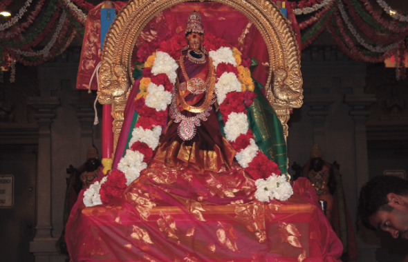 Pooja at the main temple