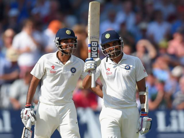 Bhuvneshwar Kumar and Mohammed Shami shared a record 111-run stand for the last wicket.