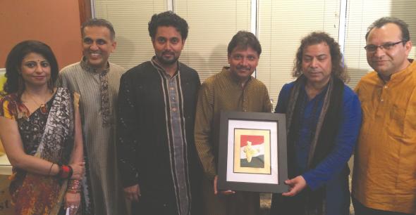 From left: Sangeeta Pasrija, Swapan Dhairyawan, Raja Banga, Charlie Patel, Dhananjay Kaul and Surinder Kaul.                                                                       Photo: Arun Pasrija