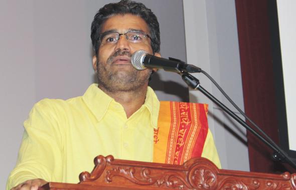 Inspirational speech delivered by Swami Udit Chaitanyaji