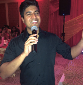 Adarsh Menon provided live entertainment for the party.