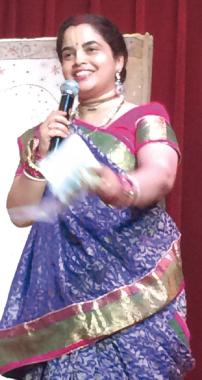 Kalasudha Mata emceed the musical program