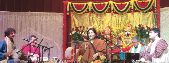 Anuradha Paudwal sang with her ensemble at the OCC's Rath Yatra program.                                                                                       Photos: Jawahar Malhotra