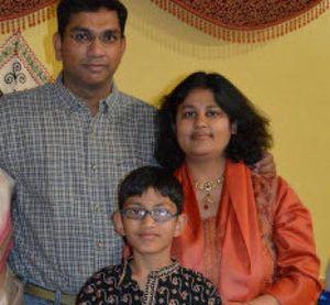 Sumeet, Pallavi and Arnav Dhawan in an undated photo. Pallavi Dhawan is accused of killing 10-year-old Arnav. (Facebook photo)