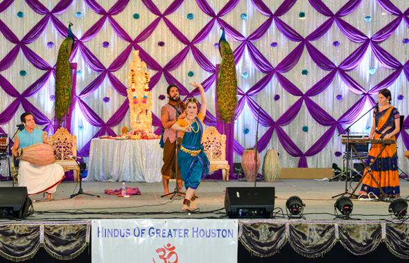 Mayapuris, a Hindu dance and kirtan and chant singing group