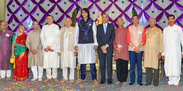 HGH's Board of Advisors: Sharad Amin (HGH President), Dr. Hansa Medley, Dr. Ravi Tamerisa, Gaurang Nanavati, Dev Mahajan, Saurabh Raj Jain (Sri Krishna of Mahabharata), Consul General P. Harish, Ramesh Parikh, Jugal Malani, Dr. Venugopal Menon, Vijay Pallod (HGH Public relations);Ramesh Bhutada and Prabhat Sharma missing in the picture.