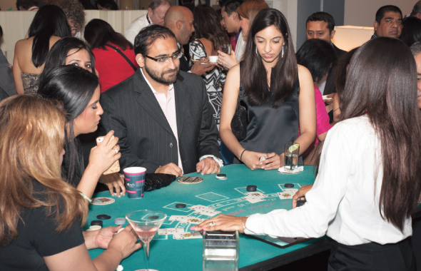 Guests played at the blackjack, roulette and craps tables at the Ace of Hearts Charity event on Saturday, August 2.