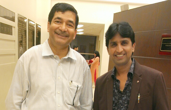 Dr. Nausha Asrar (Left) with Dr. Kumar Vishwas