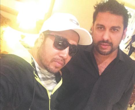 Mika Singh with Rehan Siddiqi of Hum Tum Shows.