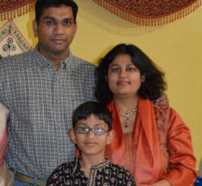 The Dhawan family. Sumeet and Pallavi Dhawan were found dead in their Frisco, Texas home. Pallavi Dhawan had been suspected, but not charged, with killing her 10-year-old son, Arnav. (Dhawan family photo)