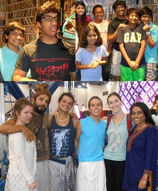 The Jungle Book artists' (above) on Rice radio and The Mayapuris (below) with KTRU's Varsha Vakil