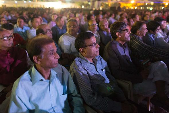 Crowd enjoying the Diwali program at BAPS