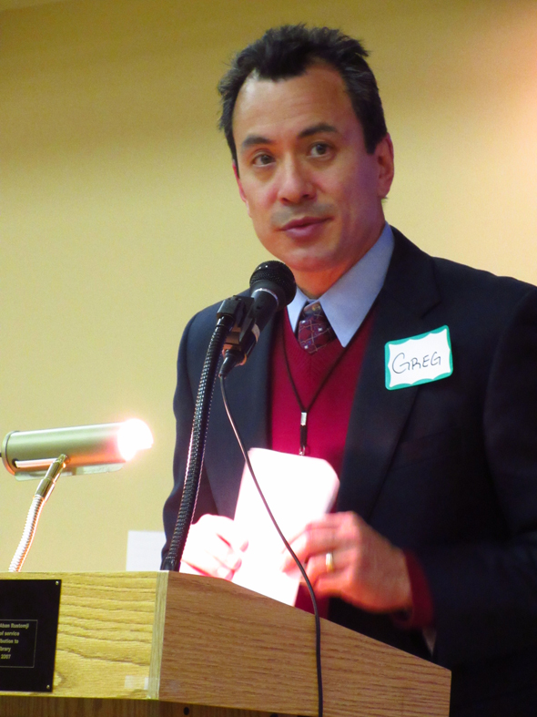 The Rev. Gregg Han, Director of Community Outreach for Interfaith Ministries of Houston led the event into the dialogue.