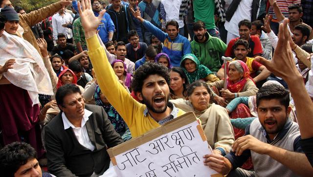 hindustantimes-february-demonstration-abhimanyu-students-residence-wednesday_c5c428b6-d6b5-11e5-bf98-84b7c9dfc99d